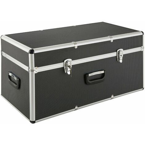 Coffre en aluminium Coffre de transport Caisse de rangement 100 L