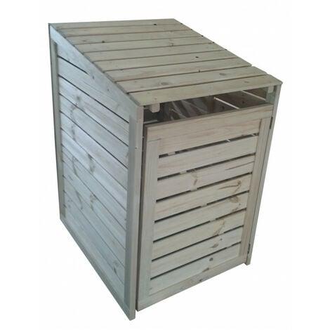 magasin en ligne 1402b a7bd6 Coffre en bois pour poubelle (cache-poubelle)