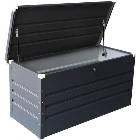 Coffre étanche avec verins hydrauliques/serrure et clef - métal