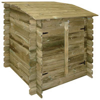 Coffre filtration piscine en bois