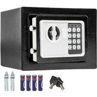 Coffre Fort Electronique De Sécurité En Acier + 2 Clés + Code Digital 17 Cm  X