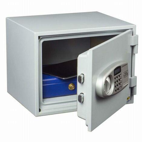Coffre-fort FP43 E ignifugé électronique + 2 clés secours BURG WAECHTER - intérieur 225x320x220 mm - 39600