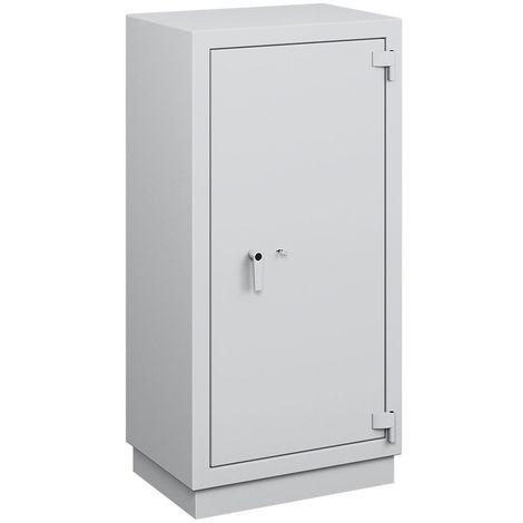 Coffre ignifuge pour papier à parois multiples - classe de sécurité B, protection anti-feu S 120 P - h x l x p ext. 1600 - gris clair RAL 7035