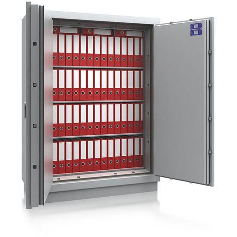 Coffre ignifuge pour papier à parois multiples - classe de sécurité B, protection anti-feu S 120 P - h x l x p ext. 1800 - gris clair RAL 7035