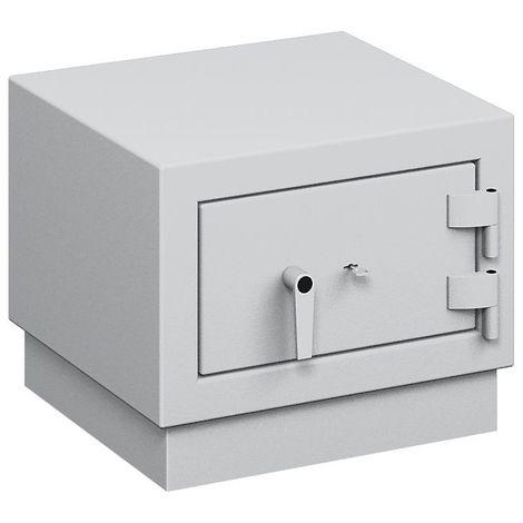 Coffre ignifuge pour papier à parois multiples - classe de sécurité B, protection anti-feu S 120 P - h x l x p ext. 489 - gris clair RAL 7035