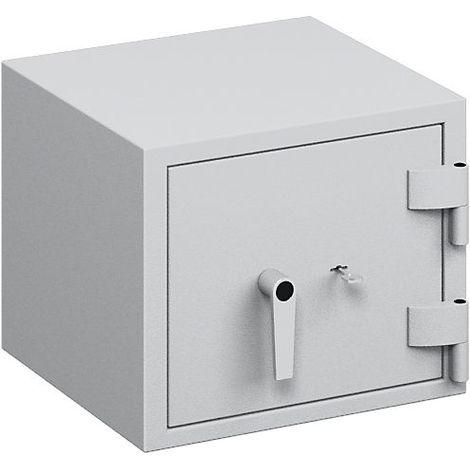 Coffre ignifuge pour papier à parois multiples - classe de sécurité B, protection anti-feu S 60 P, l x p 463 x 427 mm - - gris clair RAL 7035
