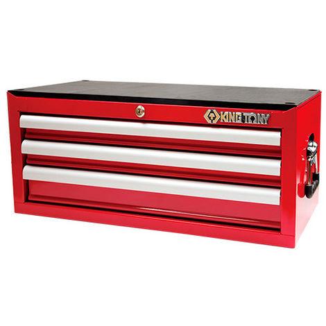 Coffre métallique transportable vide à 3 tiroirs - 307 x 251 x 660 mm