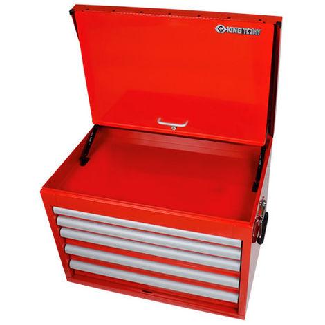 Coffre métallique transportable XL vide à 5 tiroirs - 660 x 455 x 483 mm