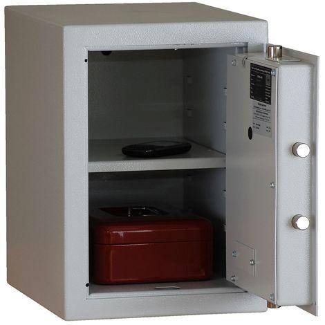 Coffres-forts à poser - tous côtés double paroi, porte à double paroi - h x l x p 420 x 300 x 380 mm - gris clair RAL 7035