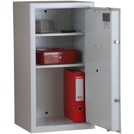 Coffres-forts à poser - tous côtés double paroi, porte à double paroi - h x l x p 805 x 425 x 380 mm - gris clair RAL 7035