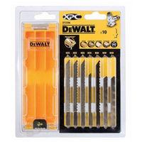 Coffret 10 lames XPC DEWALT - boîte de rangement - DT2296