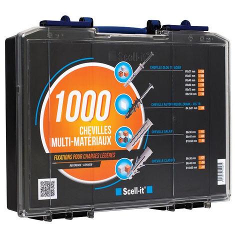 Coffret 1000 chevilles SCELLIT - spécial fixation légères - COF002B