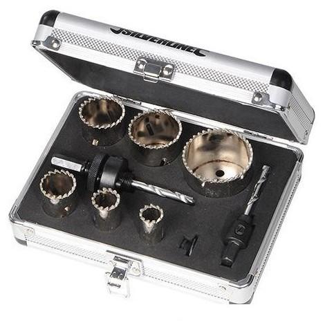 Coffret 11 pièces scies-cloches diamantées ø 19 - 57 mm - 868779 - Silverline