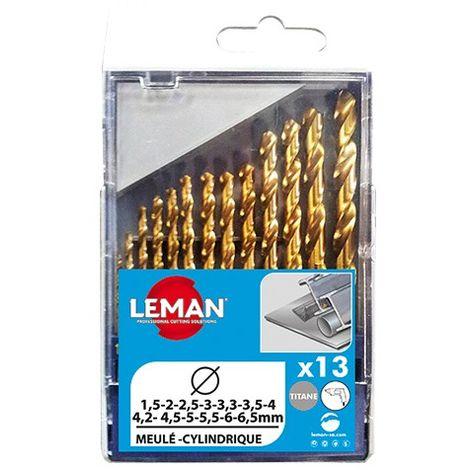 Coffret 13 forets metal HSS titane - 803.000.13 - Leman