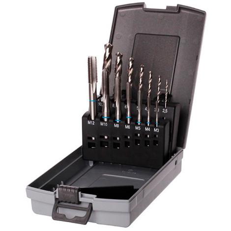Coffret 14 pcs DIN 371-376 HSS perçage, taraudage M3 à M12 mm - KA300114 - Labor