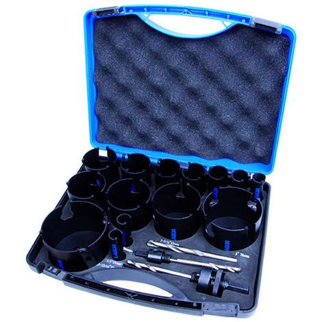 Coffret 17 pcs de trépans bois TCT D. 19 à 82 x Lu. 60 mm - JH109598 - Labor - -