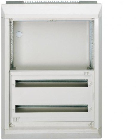 Coffret 2 rangées 48 modules blanc encastré sans porte à compléter 800X600X182mm VEGA D HAGER FU42A