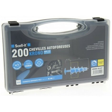 Coffret 200 chevilles autoforeuses Zinc 31mm PH2