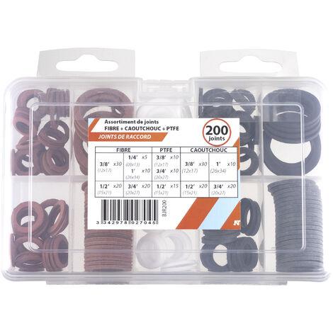 Coffret 200 joints int fibre /caout/ptfe 08/12/15/20/26. NOYON & THIEBAULT