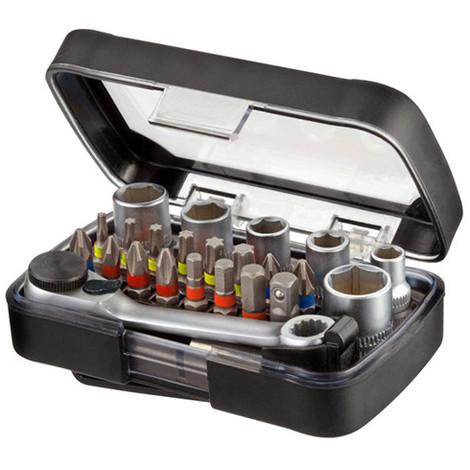 Coffret 24 pcs de vissage + porte embouts magnétique - IZZ00160 - Labor - -