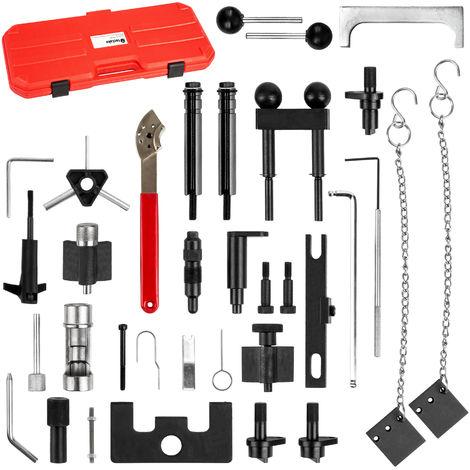 Coffret 34 pièces d'outils de Calage Distribution Moteur pour Audi Seat Skoda Volkswagen