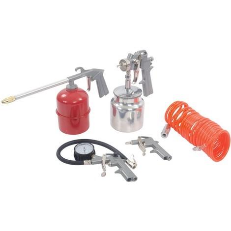 Coffret 5 accessoires pour outils pneumatiques - 5 pcs