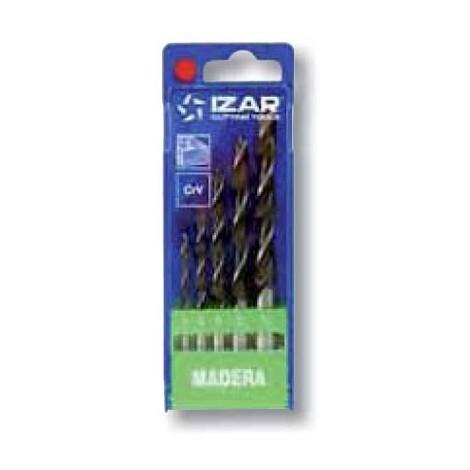 coffret 5 forets auto-centreur bois Izar acier CrV de 4 à 10mm