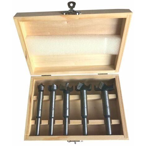 Coffret 5 mèches à façonner bois D. 15 à 35 mm x Q. 8 mm - 440150 - Beast