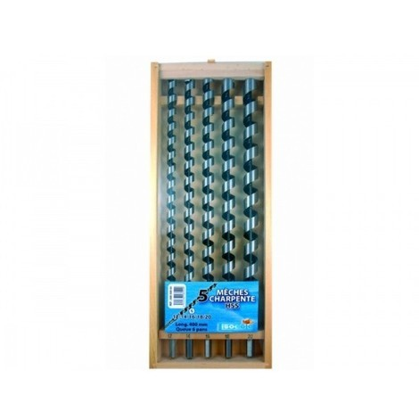 Coffret 5 mèches de charpente LEMAN - 308.500.05