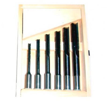 """main image of """"Coffret 6 mèches à mortaiser à droite WS D. 6 à 16 x Q 16 mm - 5051000 - Holzprofi"""""""