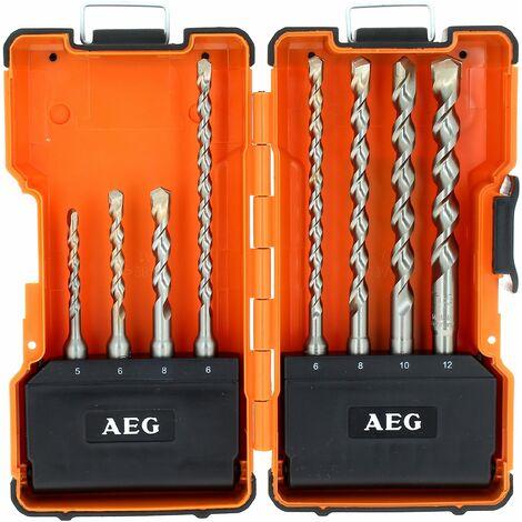 Coffret 8 forets sds-plus aeg pour Perforateur Ryobi, Perceuse A.e.g, Perforateur A.e.g, Perforateur Black & decker, Perforateur Dewalt, Perforateur S