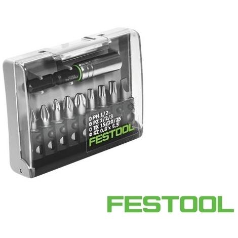 Coffret 9 embouts Mixtes avec porte-embout Festool