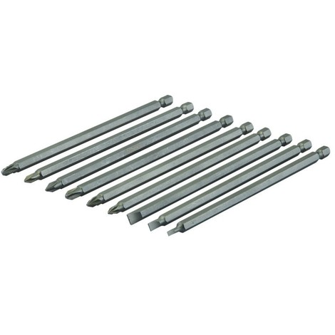 Coffret 9 pièces d'embouts de vissage super-longs - 150 mm