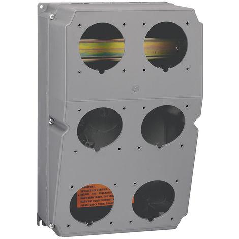 Coffret à composer Hypra - pour 6 socles prises 16-32A - prépercé rail interieur