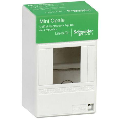 """main image of """"Coffret à équiper (Mini Opale) 4 modules Schneider - Blanc"""""""