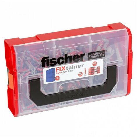 Coffret assortiment 210 chevilles Duopower Fixtainer FISCHER