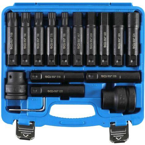 COFFRET BGS TECHNIC 3/4 DOUILLES A CHOC IMPACT TORX MALES 6 PANS
