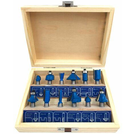 Coffret bois de 12 mèches de défonceuse carbure x Q. 8 mm - 440320 - Beast