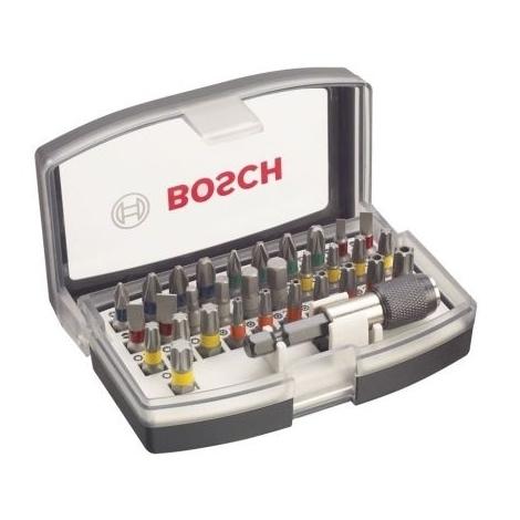 Coffret BOSCH 32 pieces - Embouts de vissage + porte embouts 1/4 - 2607017319
