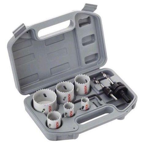 Coffret BOSCH : 6 scies-trépans + 2 adaptateurs + 1 clé Allen - 2608580868