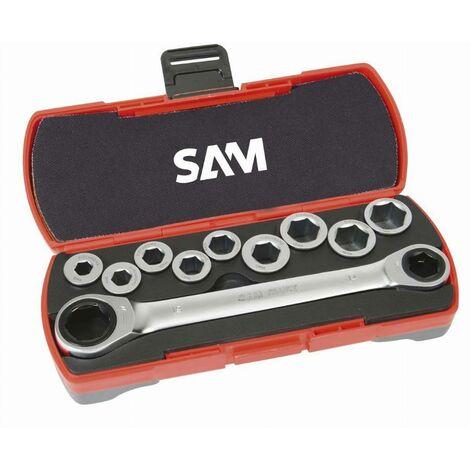 Coffret clés à cliquet 12 pièces SAM - CP12