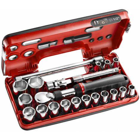 Coffret cliquet extensible + douilles 1/2 6 pans 21 pièces FACOM - SXL.DBOX1PB