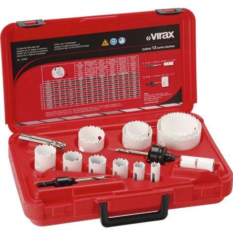 Coffret complet de 12 scies cloches VIRAX - 220906