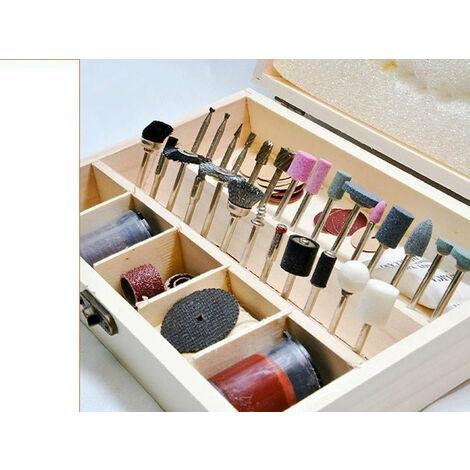 Coffret d'accessoires pour mini perceuse 100 pcs Ponceuse Type Outil dremel X2 outils atelier bricolage