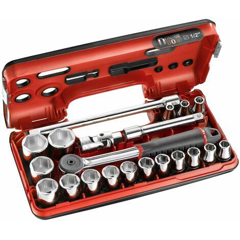Coffret DBOX 21 pièces Cliquet étanche et douilles 1/2 6 pans métriques FACOM - S.161DBOX1PB