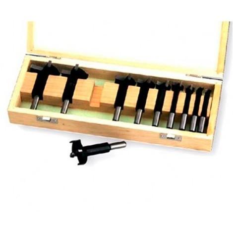 Coffret de 10 mèches à façonner HM D. 10 à 50 mm - 5021001 - Holzprofi - -