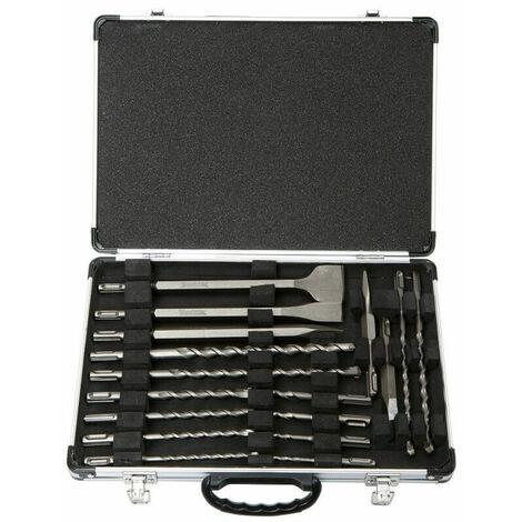 Coffret de 17 outils SDS-Plus perçage burinage MAKITA - D-19180