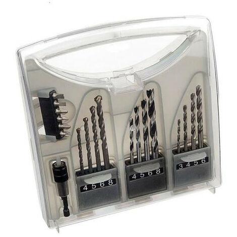 Coffret de 19 accessoires embouts et forets - DIAGER 190097500
