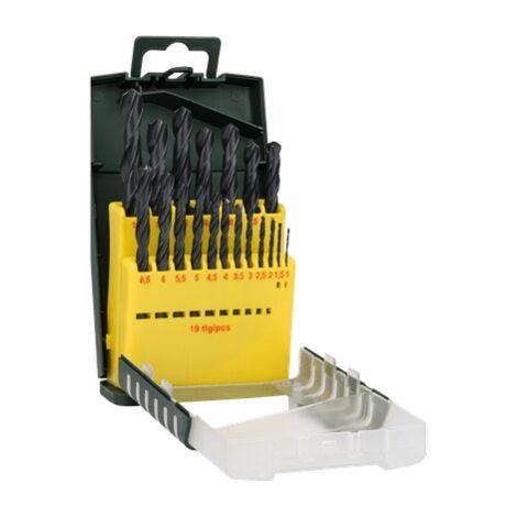 Bosch Bleu Métal Perceuse Set 18 pièces HSS-R Toughbox 1-10 mm spiral Perceuse NEUF