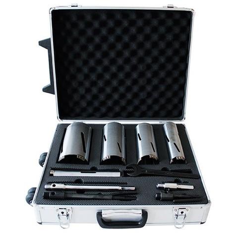 Coffret de 4 couronnes diamantées avec accessoires Lu. 170 mm. Brique, béton cellulaire, siporex - VAL5200.05 - LEMAN - -